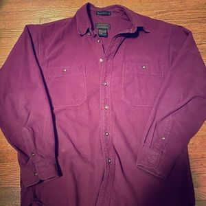 Eddie Bauer Bainbridge Flannel Button Up LS Shirt